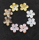 10PCS  16mm Charm  Black Pink White Yellow Natural Shell Flower beads