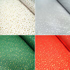 Lifestyle Christmas Festive Gold Stars Tossed 100% Cotton Fabric 140cm Wide