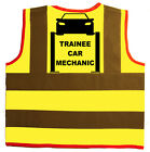 Baby/Chilren/Kids Hi Vis Safety Jacket/Vest Trainee Car Mechanic Size 0-9Years