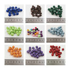 SILVER STUD ACRYLIC BEADS *12 COLOURS* *4 SIZES* BEADING JEWELLERY MAKNIG CRAFTS
