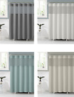 VCNY Celine Fabric Shower Curtain With Attached PEVA Liner - Assorted Colors