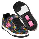 Heelys Dual Up X2 Shoes -Black / Multi / Hands  + Free How to DVD
