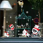 UK Christmas Vinyl Window Wall Stickers Decal Snowman Removable Home Room Decor