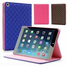 QUILTED STYLISH SOFT PU LEATHER SMART CASE COVER WITH STAND FOR APPLE IPAD AIR