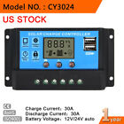 10A 20A 30A Solar Panel Charge Controller Regulator 12V/24V PWM Auto Switch MT