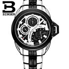 BINGER stainless steel leather mens 50 meters water resistant watch sport analogWristwatches - 31387