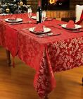 Christmas Glitter Festive Red Tablecloth Table Linen Xmas Napkins Runner Mat Set