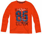 Boys Top New Kids Long Sleeved Cotton Tee T Shirt Orange Ages 2 3 4 5 6 7 Years