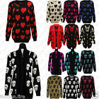 NEW WOMEN LADIES PLUS SIZE SKULL CARDIGAN WATERFALL LADIES CARDIGAN JUMPER