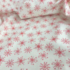 Christmas Fabric Nordic Scandi cream/ red per 1/2 Metre /Fat quarter 100% cotton