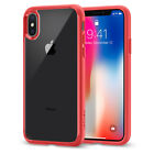 For iPhone X Spigen® [Ultra Hybrid] Clear Hybrid TPU Dual Shockproof Case Cover