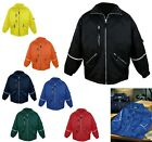 MEN'S REFLECTIVE, WATER / WIND RESIST, QUILTED LINED, SAFETY WEAR JACKET, S-6XL