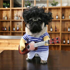 Pet Small Dog Funny Guitar Player Halloween Cosplay Costume Party Outfit Clothes