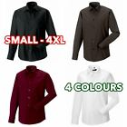 Mens Boys Long sleeve easycare fitted shirt formal casual lot