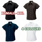 Women's Ladies cap sleeve Tencel® fitted shirt formal casual lot