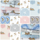 Disney Bambi fat quarter  bundles, pink or blue 100% cotton fabric