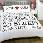 Mine and Yours Duvet Set - Double - King Size