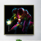Oil Painting Colorful Iron Man Print on Canvas Mural Home Wall Decor Unframed US