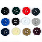 Colour 4 Hole Round Shirt Buttons - Colour and Size Choice