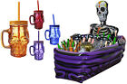 DAY OF THE DEAD PARTY DECORATION PACK OF 36 SKULL GLASSES AND SKELETON COOLER