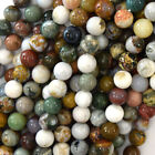 "Natural Ocean Jasper Round Beads Gemstone 15.5"" Strand 6mm 8mm 10mm 12mm 13mm"