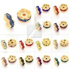 20pc Crystal Beads Wavy Gold Plated Spacer Making 5/6/8/10/12mm BB