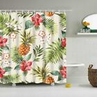 Extra Long Fabric Polyester Shower Curtain with Hook for Bathroom Folk Style
