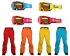 Two Bare Feet  CLAW HAMMER Kids Ski Pants & NITRO Junior Ski Snow Googles Set
