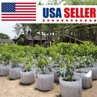 5Pcs Round Fabric Pots Plant Pouch Root Container Grow Bag Aeration Container