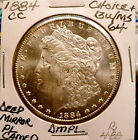 1884-CC MORGAN SLIVER DOLLAR CHOICE+ BU/MS CAMEO DEEP MIRROR PROOFLIKE NICE B488