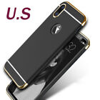 For iPhoneX Case 3 in1 Ultra Slim Luxury PC Hard Plating Shell Cover Shockproof