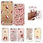 For Iphone X 8 6 7 Plus 5s Phone Case Various Christmas Transparent Cover Xmas