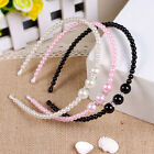 1 Pcs Kid Princess Headband with Pearl Rhinestones 3 Colors for Baby Girls Fad