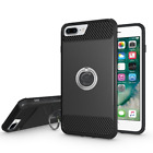 Apple iPhone 7/ 7 Plus Rubber Slim Hard Cover With Ring Holder Protection Case