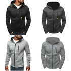 Men Fashion Slim Thick Warm Hooded Sweatshirt Zipper Coat Jacket Outwear Sweater
