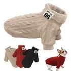 Dog Knitted Jumper Knitwear Chihuahua Clothes Warm Pet Puppy POLO Neck Sweater