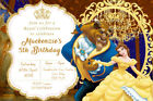 Personalised Belle Beauty and the Beast Birthday Party Invites inc envelopes V11
