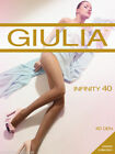 Giulia Infinity 20-40 Denier Silky tights Cotton gusset Black and Natural S-XL