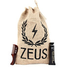 Zeus Mustache Styling Kit for Men - Mega Hold Styling Wax + Saw-Cut Mustache Com