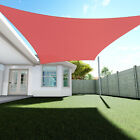 Sun Shade Sail Red Permeable Canopy Lawn Patio Pool Garden Deck 8x8 24x24 KIT 6""