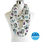 Infinity Loop Scarf Colour Characters Circle Lightweight Alice in Wonderland