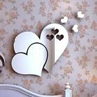 3d Mirror Love Heart Wall Sticker Diy Home Room Office Art Mural Decor Removable