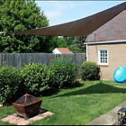 Brown Sun Shade Sail Permeable Equilateral Triangle Canopy Patio UV Awning KIT 6