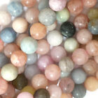 "Matte Morganite Round Beads Gemstone 15.5"" Strand beryl 4mm 6mm 8mm 10mm 12mm"