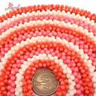 """3X8mm White Orange Pink Coral Stone Loose Beads For Jewelry Making DIY Strd 15"""""""