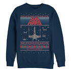 Star Wars Ugly Christmas Sweater Red Five Mens Graphic Sweatshirt $40.0 USD