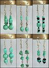 Fashion beaded drop/dangle Earrings -  Colour - Turquoise