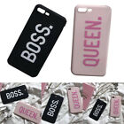 1PC Couple BOSS QUEEN Soft Phone Case For Apple iPhone 6 6s 6Plus 7 7Plus