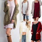 Ladies Boho Open Front Chunky Warm Cardigans Pointelle Pullover Sweater Blouses