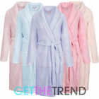 Womens Super Soft Cosy Fleece Dressing Gown Ladies Night Gown Robe 10-20 UK